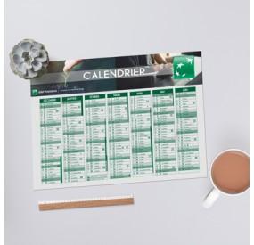 Calendrier souple (8.5 x 5.4 cm)