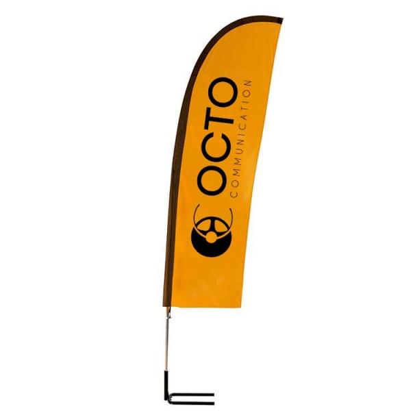 Beach flag 2m30 pied autocal