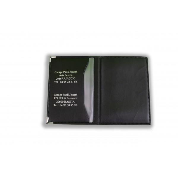 Porte-carte grise GIULIA : Cuir lisse