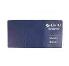 Porte-carte grise FANTASIA : 3 volets PVC aspect cuir veiné