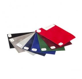 Porte-carte grise VELOURS : 3 volets PVC aspect tissu velours