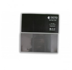 Porte-carte grise GRAIN CUIR : 3 volets PVC aspect cuir grainé
