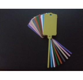 Etiquette de clés crantée