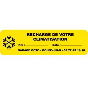 Etiquette RECHARGE DE CLIMATISATION